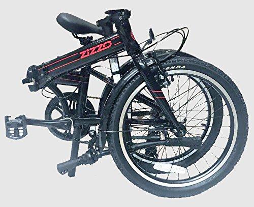 "EuroMini Via 20"" Folding Bike-Lightweight Aluminum Frame Genuine Shimano 7-speed 26lb by EuroMini (Image #1)"