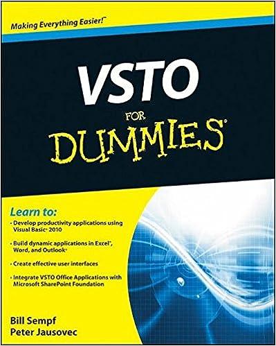 Amazon com: VSTO For Dummies (9780470046470): Bill Sempf