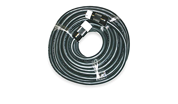 125//250VAC 1 Each 6//3 Cep 50 Amp Temporary Power Cord 8//1 Wire Size Black Vinyl 6450S