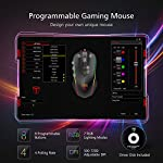 PICTEK Gaming Mouse Wired, RGB Chroma Backlit Gaming Mouse, 8 Programmable Buttons, 7200 DPI Adjustable, Comfortable…