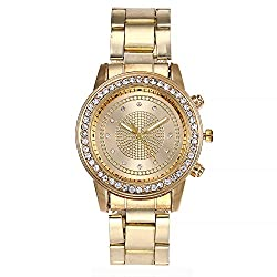 Women's Analog Quartz Watch,ODGear Cheap Wrist Watch Casual Stainless Steel NW08 (Gold)