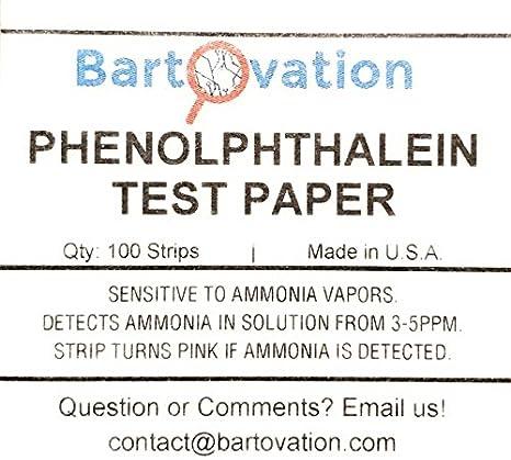 Bartovation Tm Phenolphthalein Ph Test Paper Indicator 100 Strips