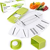 Mandoline Slicer. Adjustable Vegetable Cutter, Peeler, Grater,...