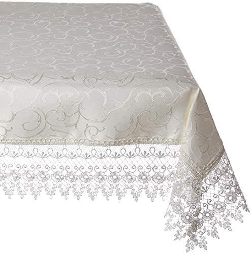 HomeCrate Flower Bow Vintage Lace Design tablecloths 70