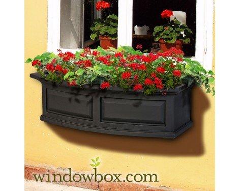 Presidential 36 Inch Window Box - Black by Windowbox