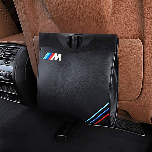 S-WEKA M Line Car Garbage Bag, Vehicle Rubbish Container Back Seat Hanging Auto Organizer for BMW (Black)