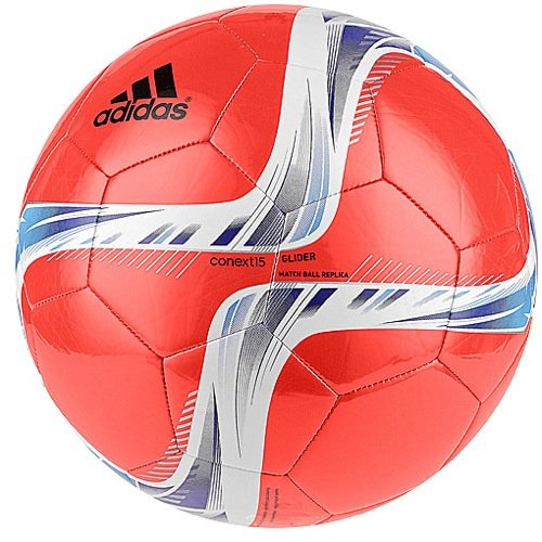 adidas Performance Conext15 Glider Soccer Ball, Solar Red/Night Flash Purple/White, Size 5 (Soccer Ball Red)