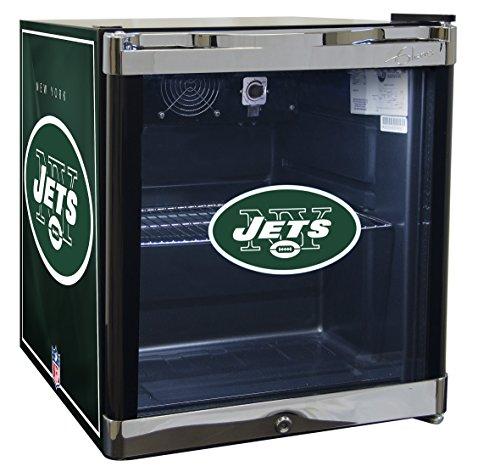 Glaros Officially Licensed NFL Beverage Center / Refrigerator - New York (Mini Jet)