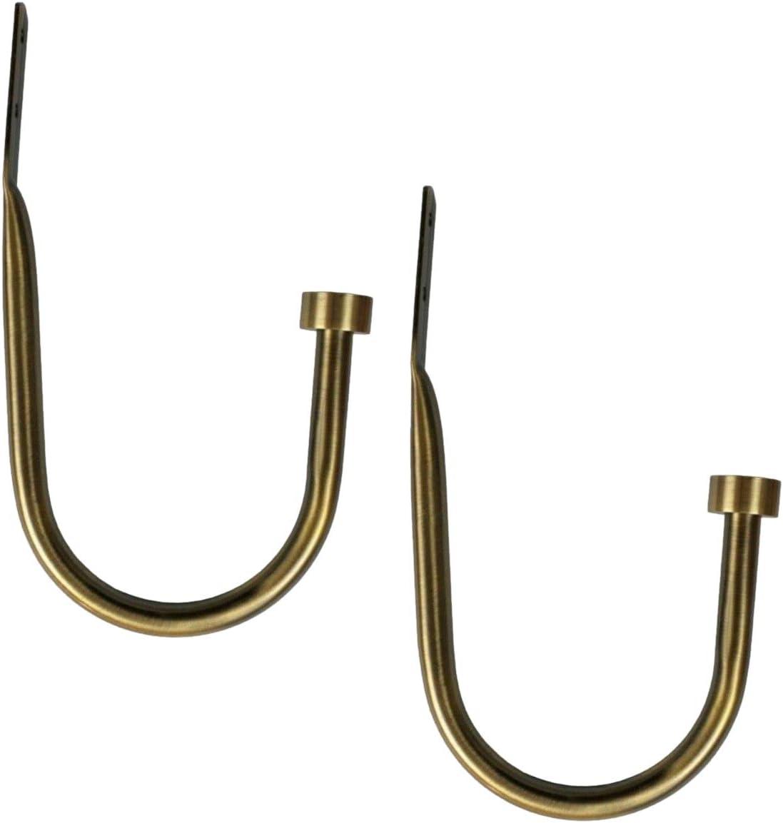 2X Raffhalter f/ür Gardinen Hook Metall Raffb/ügel Stilgarnituren Satin Matt