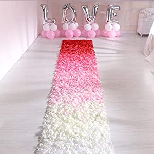 Livelynine Ivory Flower Pedals for Wedding Favors 1000PCS Silk Rose Petals for Romantic Decorations Special Night Wedding Decorations Aisle Runners Engagement Party Decorations 3