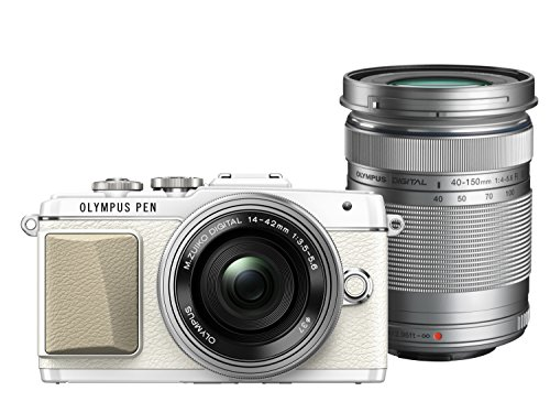 Olympus PEN Lite E-PL7 (White) with 14-42mm EZ and 40-150mm Lens (Silver) - International Version (No Warranty) (Olympus Pen 25mm)