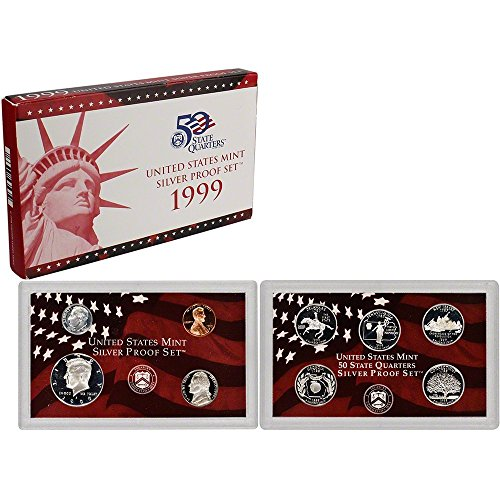 1999 S US Mint Silver Proof Set OGP Proof (1999 Us Mint Quarter)