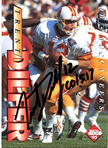 Edge Autographed Collectors Card (Trent Dilfer Autographed/Signed 1995 Collectors Edge Card - Autographed Football Cards)