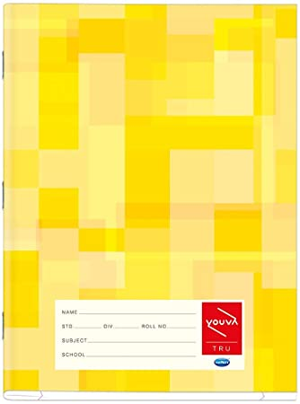 Navneet Youva | Soft Bound | Note Book Pattern | 18 cm x 24 cm Small Square | 124 Pages | Pack of 12