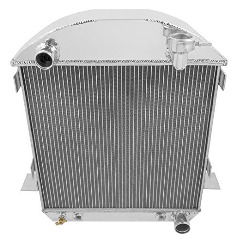 Champion Cooling, 3 Row All Aluminum Radiator for T-Bucket W-Chevrolet, CC1005 (Bucket T Radiator)