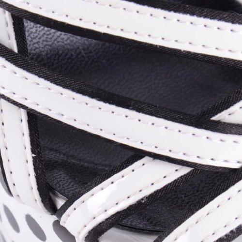 Dolcis blanco blanco para de mujer Sandalias sintético vestir de Px7ZrfP