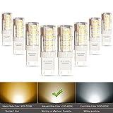 Lampaous 8-Packs 5W G9 Capsule LED Light Bulb Natural Daylight White 4000K 220V-240 Volt 40W Halogen Equivalent Bi Pin G9 LED Corn Lamp for Chandelier Lighting, Cabinet Light, Ceiling Light Fan, Landscape Lighting, Hallway Light F