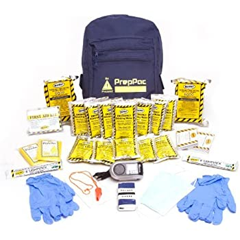 Disaster Preparedness Kit - 3 Day 2 Person Emergency Survival for Earthquake, Hurricane, Tornado, Flood, Fire - Exceeds Red Cross Specs - Home, Car, Office, School or College Grab n Go Backpack - Basic Bug Out Bag – Repels Zombies - 100% Guaranteed
