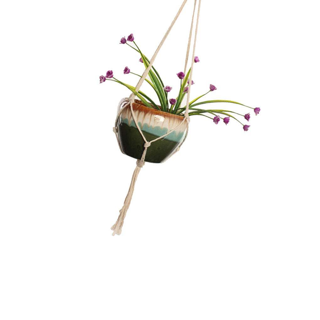 Jinzuke Boh/ême macram/é Usine Hanger Wall Art Int/érieur Ext/érieur /él/égant Utilisation Bohimian Home D/écor Flower Pot Holder