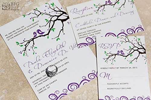 Two Lovebirds Wedding Invitation Sample (Love Birds Wedding Invitation)