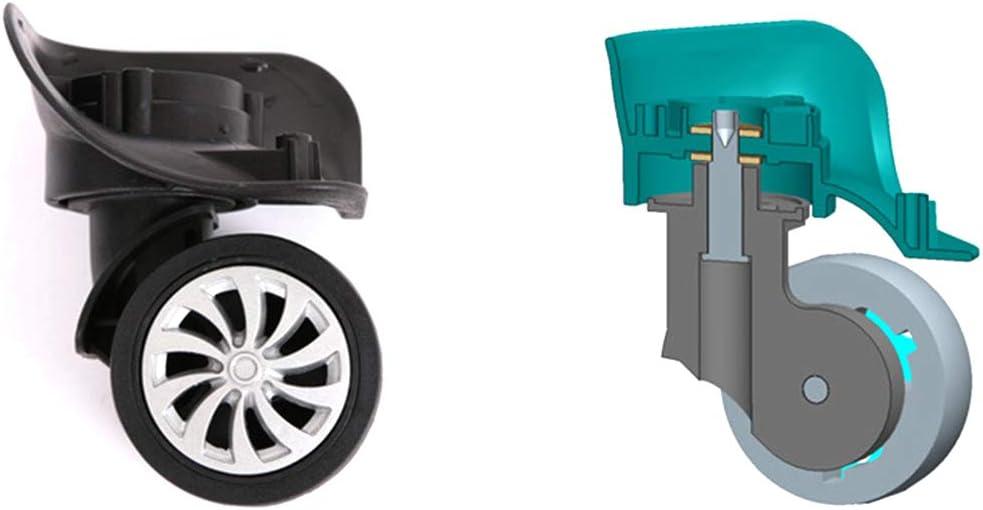 FUVOYA 4pcs Universel Bagage 360 pivotant Roue Accessoire de r/éparation Valise Valise de Remplacement de Roulette