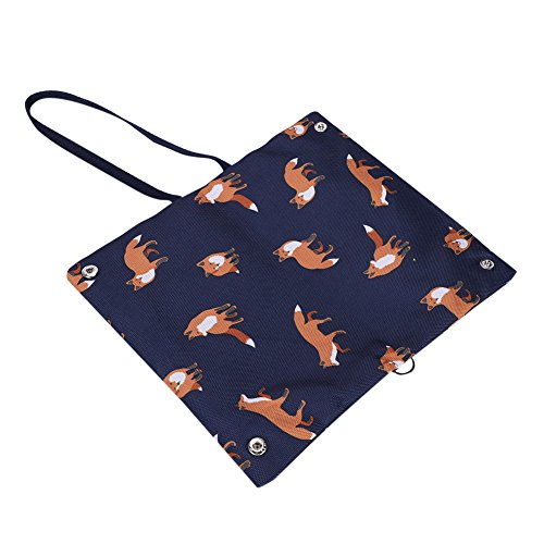 Clutch Casual Wallet Handle Handbag For Underarm Wrist Retro Women Business Men And Pocket Cards Removable Pattern Envelope Document Blue Canvas Portable Interior Fox Pockets Purse Bag Dark Zippered 8T7nq7AxWE
