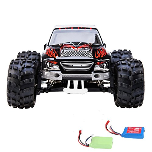 RC Car, Distianert 1/18 Scale 4WD Remote Control Car Electric Racing Car Off Road RC Monster Truck RTR Desert Buggy Vehicle 2.4Ghz 30MPH High Speed with 2 Rechargeable Batteries