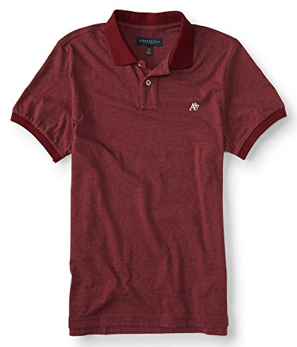 aeropostale-mens-a87-solid-jersey-polo-shirt-m-red-dare