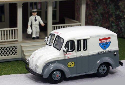 Milk Tanker Trucks - HO Divco 1950 Delivery Truck: Melville All Star Dairy Foods w/Milkman