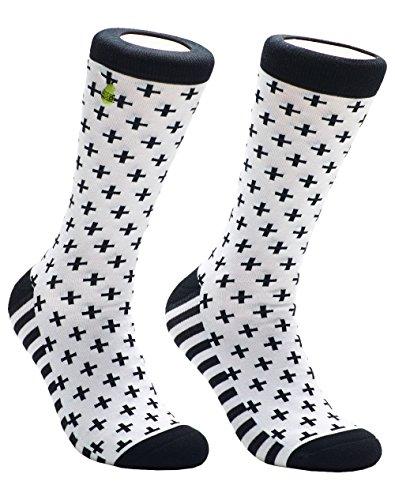 (Woven Pear, Womens Criss Cross Girl Socks, One Size)