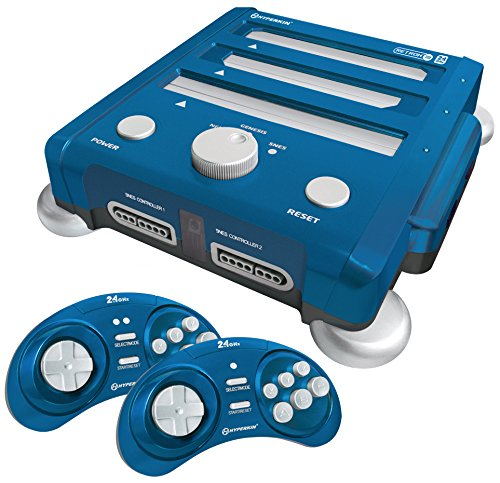 Hyperkin RetroN 3 Gaming Console 2.4 GHz Edition for SNES/ Genesis/ NES (Bravo Blue)