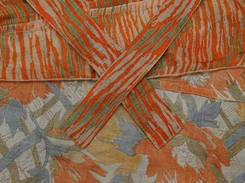 Indianbeautifulart Rouge rversible Olive Vintage amp; Dress Summer Pche Check Vert Pure Wrap Saree Soie Les Beach Femmes Imprimer rgnqZw1r8z