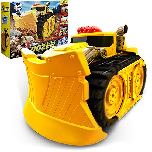 Xtreme Power Dozer - Motorized Extreme Bulldozer Toy Truck for Boys & Kids Who Love Construction Toys - Plow Through Dirt, Toys, Wood, Rocks - Indoor & Outdoor Play - Spring Summer Fall Winter