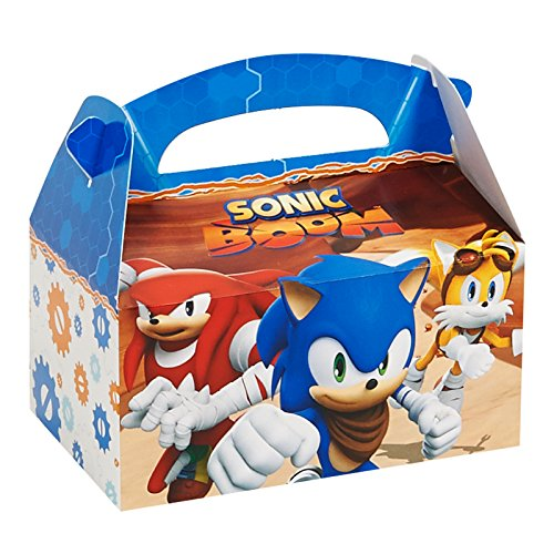 BirthdayExpress Sonic Boom Party Supplies - Empty Favor Boxes (4)
