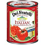 Dei Fratelli Tomatoes, Herbs & Olive Oil, Chopped Italian 28 oz (Pack of 12)