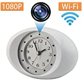 Lenofocus Hidden Spy Camera 1080P HD Wireless Wifi IP Camera Nanny Cam Alarm Clock Night Vision Motion Detection Security Hidden Cameras for Home and Office