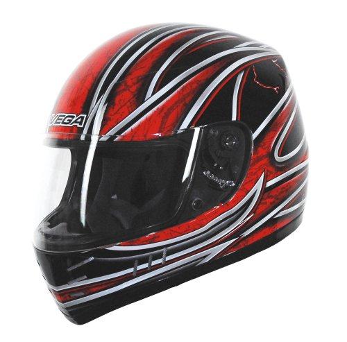 Vega Trak Junior Full Face Karting Helmet with Universe Graphic (Red, - Arrow Bell 2010