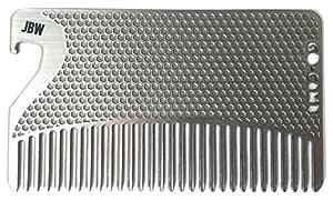 Personalized Bottle Opener Go-Comb - Stainless Steel Wallet Comb + Bottle Opener