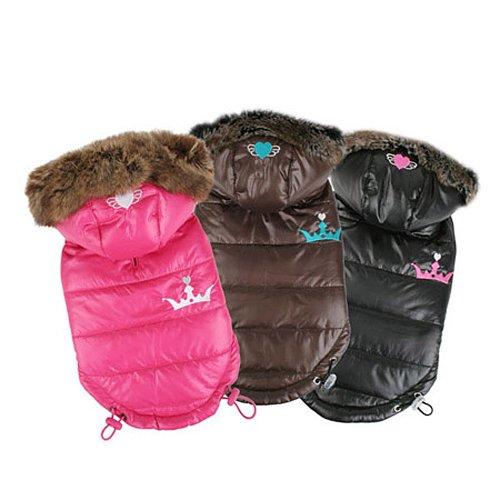 Pinkaholic New York Norwich Winter Coat, Medium, Black, My Pet Supplies