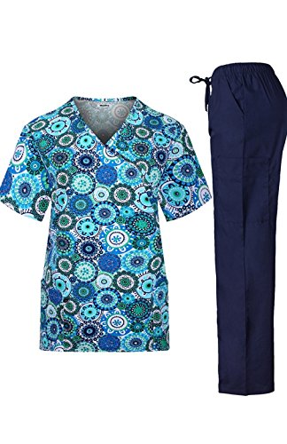 MedPro Womens Medical Scrub Printed