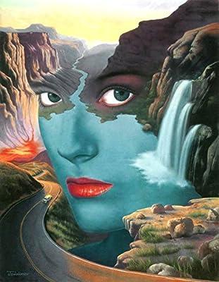 "Jim Warren Painting; Limited Edition Lithograph by Award Winning Artist Jim Warren featuring his Original work ""Mother Nature""."