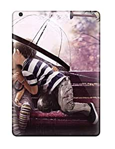 High Quality Shock Absorbing Case For Ipad Air-children Love Couple Kiss Romantic Animated