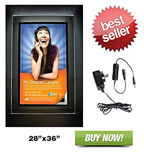 Crystal Light Box 28'' x 35.5'' - Light Box Only by StoreBasics