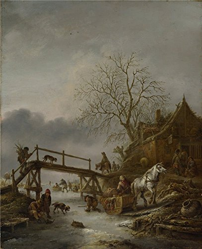 Diva Darling Spa ('Isack Van Ostade A Winter Scene ' Oil Painting, 10 X 12 Inch / 25 X 31 Cm ,printed On High Quality Polyster Canvas ,this High Resolution Art Decorative Prints)