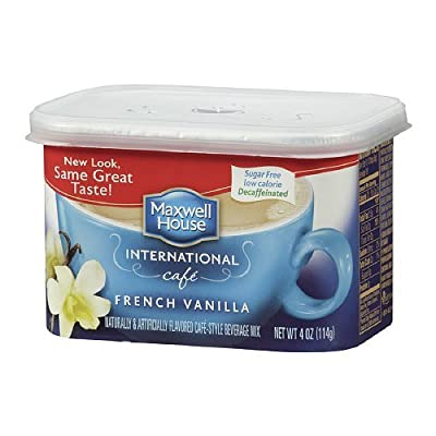 Maxwell House International Coffee Decaf Sugar Free French Vanilla Cafe, 4-ounce Cans (Pack of 2)