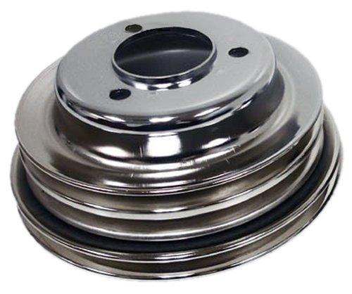 - Compatible/Replacement for CHEVY BIG BLOCK 3 GROOVE CHROME CRANK PULLEY LONG PUMP LWP