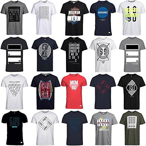 9 Pour 6er Mixte Jack S Hommes shirt Homme Coupe T Col XL Tee Jones Coupe L Shirt Ajustée 3 Rond Normale M ww64vq