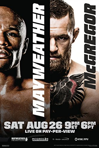 Floyd Mayweather Jr. vs Conor McGregor Boxing Official Poster