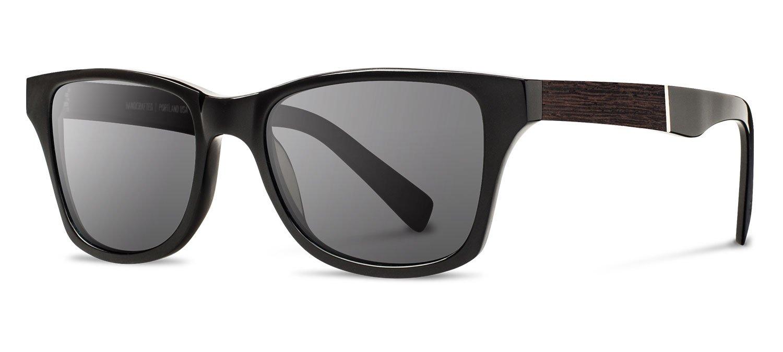 Shwood - Canby Acetate, Sustainability Meets Style, Black/Ebony, Grey Lenses