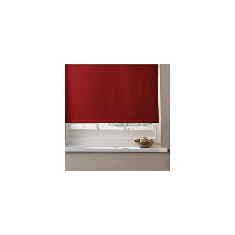 scarlet capri red image in louvolite regal and blinds colour fabric vision curtains